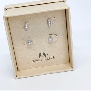 Chloe + Isabel Jewelry - 💌 Pavè Stud Duo Earrings